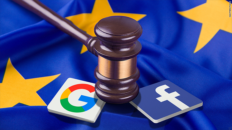 Google and Facebook GDPR Fine - EU Law