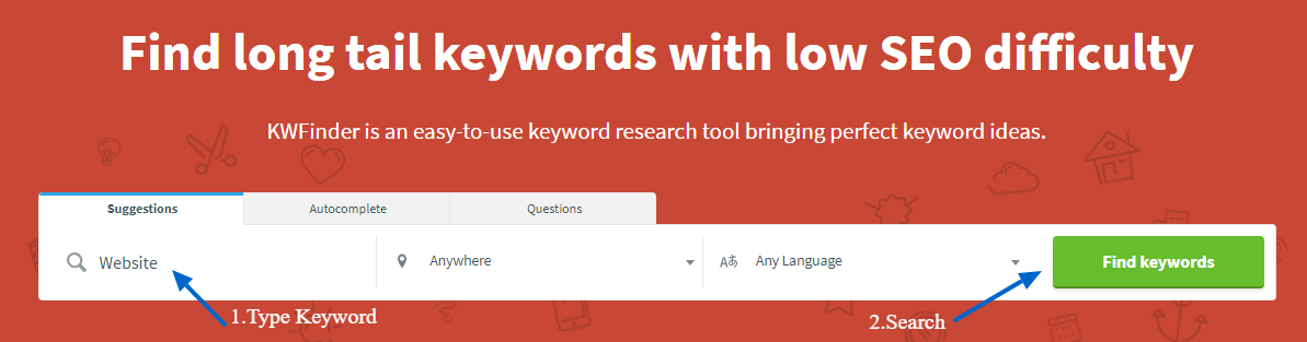 KWFinder-Keyword research and analysis tool