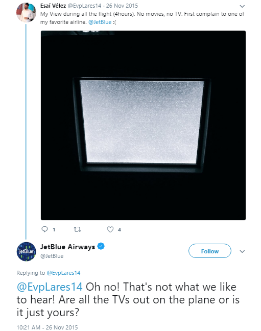 JetBlue Airways Handling Negative Comments On Social Media