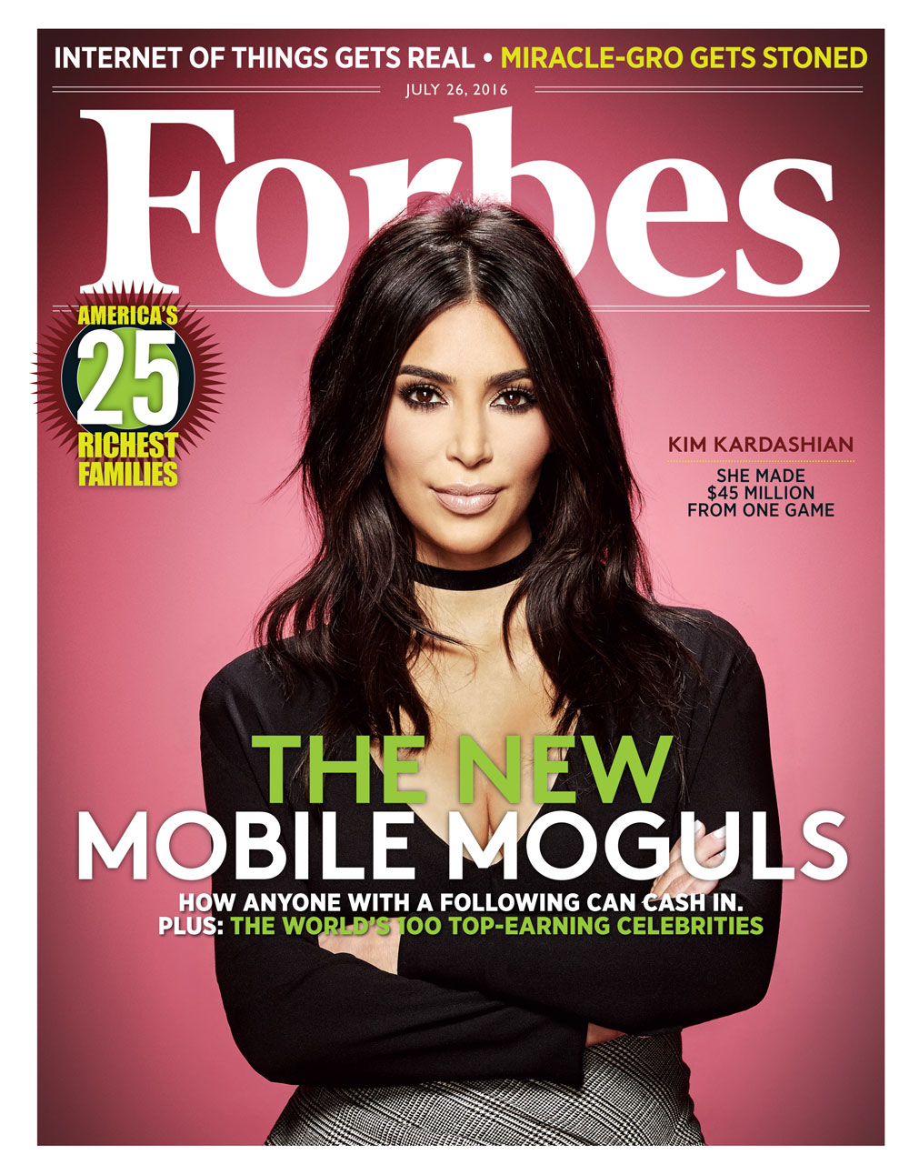 Kim Kardashian West appeared on the cover of Forbes in 2016 after making millions from her Kim Kardashian Hollywood game.